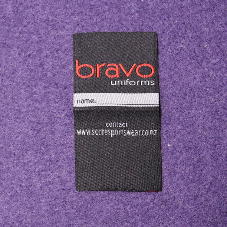 Sew On Cloth Woven Apparel Labels In Custom Design Center Fold