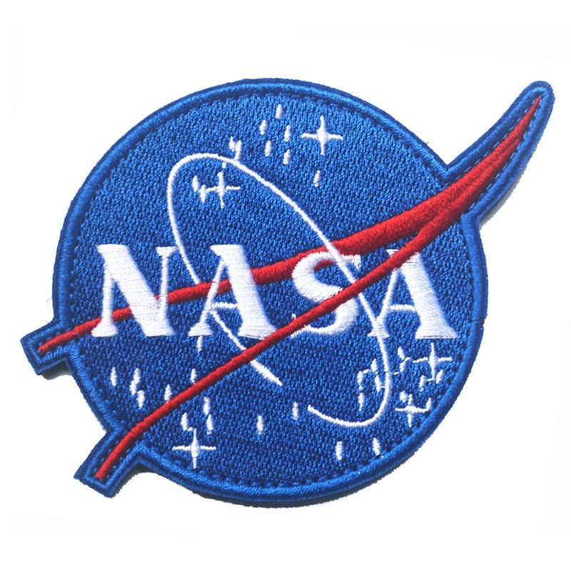 NASA Patches Polyester Custom Woven Patches Embroidered For Garment
